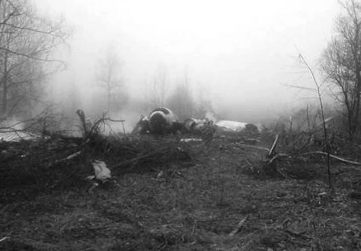 Тела и части самолета разлетелись на несколько километров.