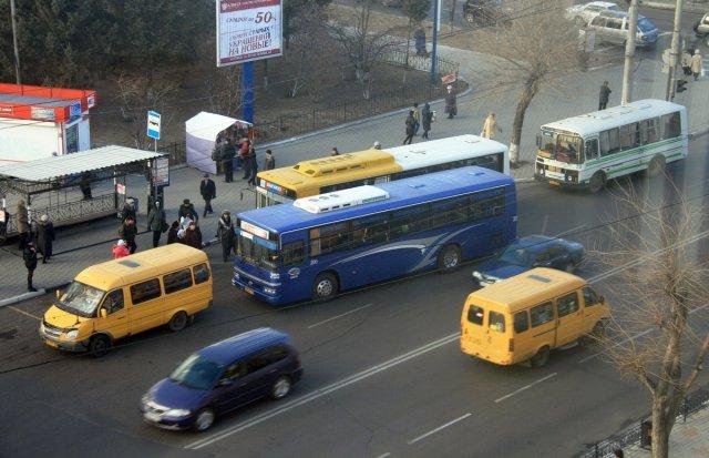 Семь благовещенских автобусов