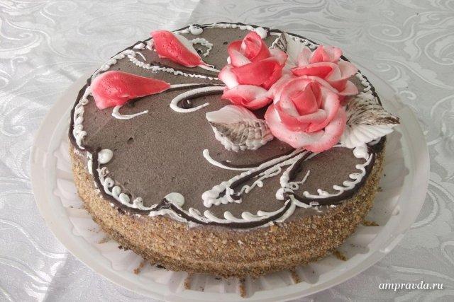 фото как обсыпать края торта