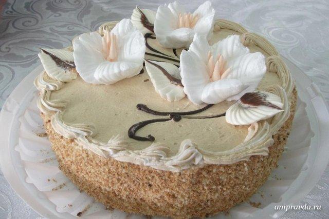 Торты бисквитные с кремом с фото