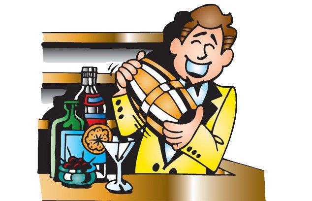 Новогодний шар, картинка бармена прикольная