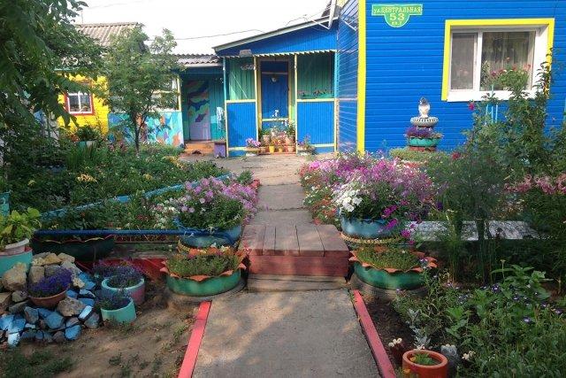 фото частный двор