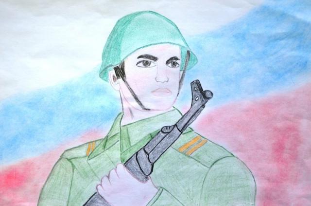 Российский солдат нарисовать
