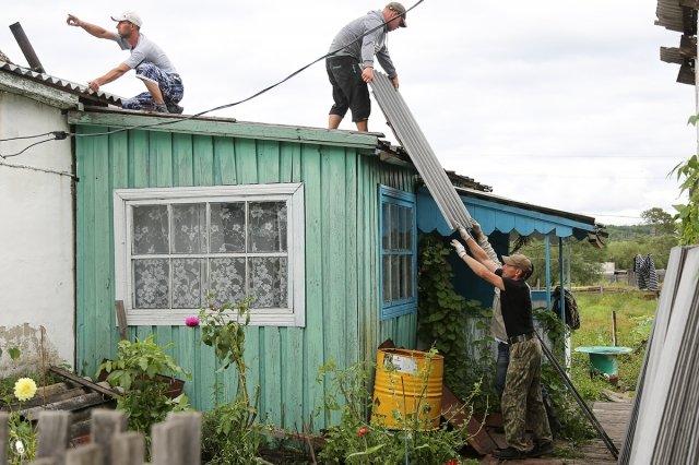 Приписки кущербу отциклона выявили водном изпоселков Амурской области