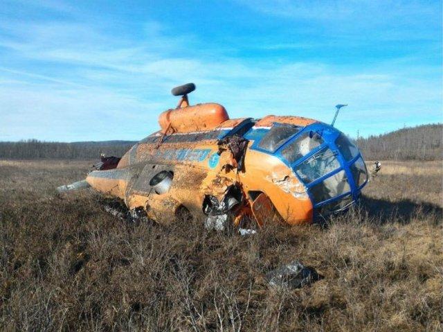 Уавиакомпании, вертолет которой упал вПриамурье, выявлены нарушения