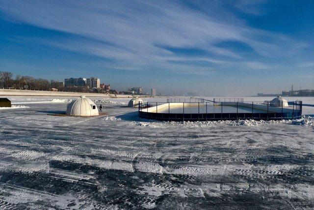 Русские хоккеисты сыграют скитайскими нальду реки