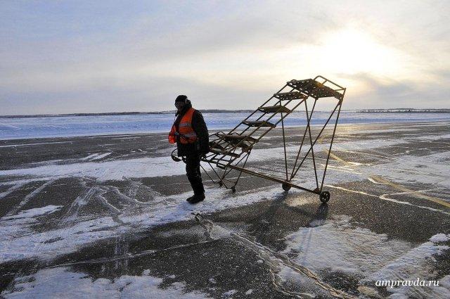 Самолеты изМосквы иЯкутска несмогли приземлиться вБлаговещенске из-за снегопада
