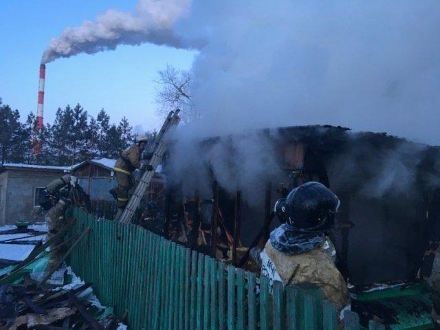 Пожар вжилом доме поул.Нагорной ликвидирован