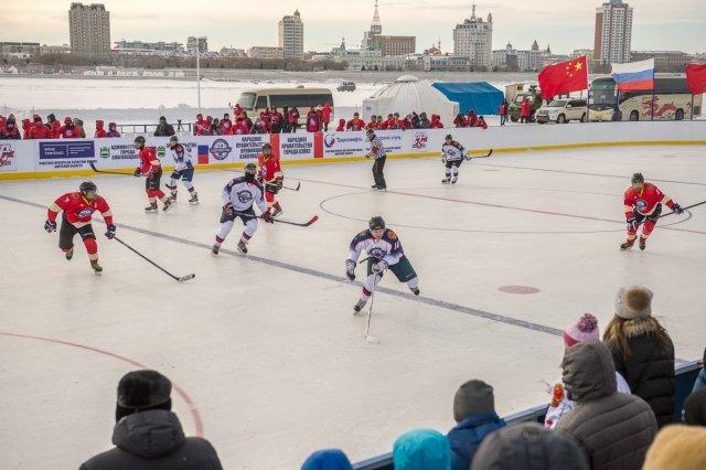 Хоккейный матч нальду Амура между Россией иКитаем будет ежегодным