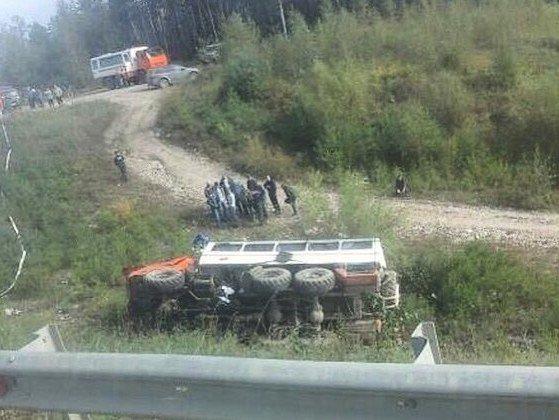 Два фургона столкнулись вПриамурье: неменее 15 пострадавших
