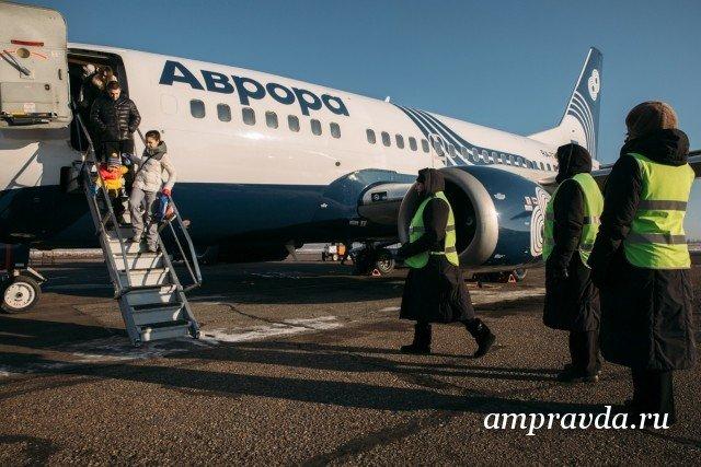 Самолет авиакомпании «Аврора» совершил аварийную посадку в Хабаровске
