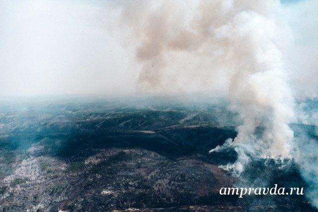 Авиация МЧС Российской Федерации защищает отогня населенные пункты Амурской области