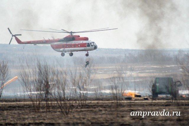 Засутки лесные пожары вАмурской области прошли практически 131 тысячу га