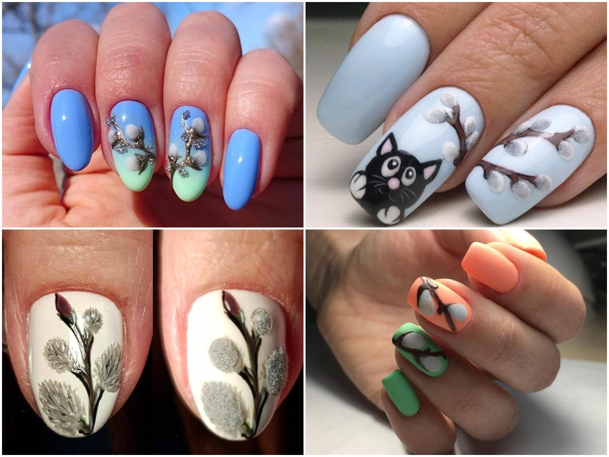 Картинки подснежники на ногтях