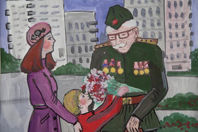 Клевая картинки, открытка ветеран и солдат